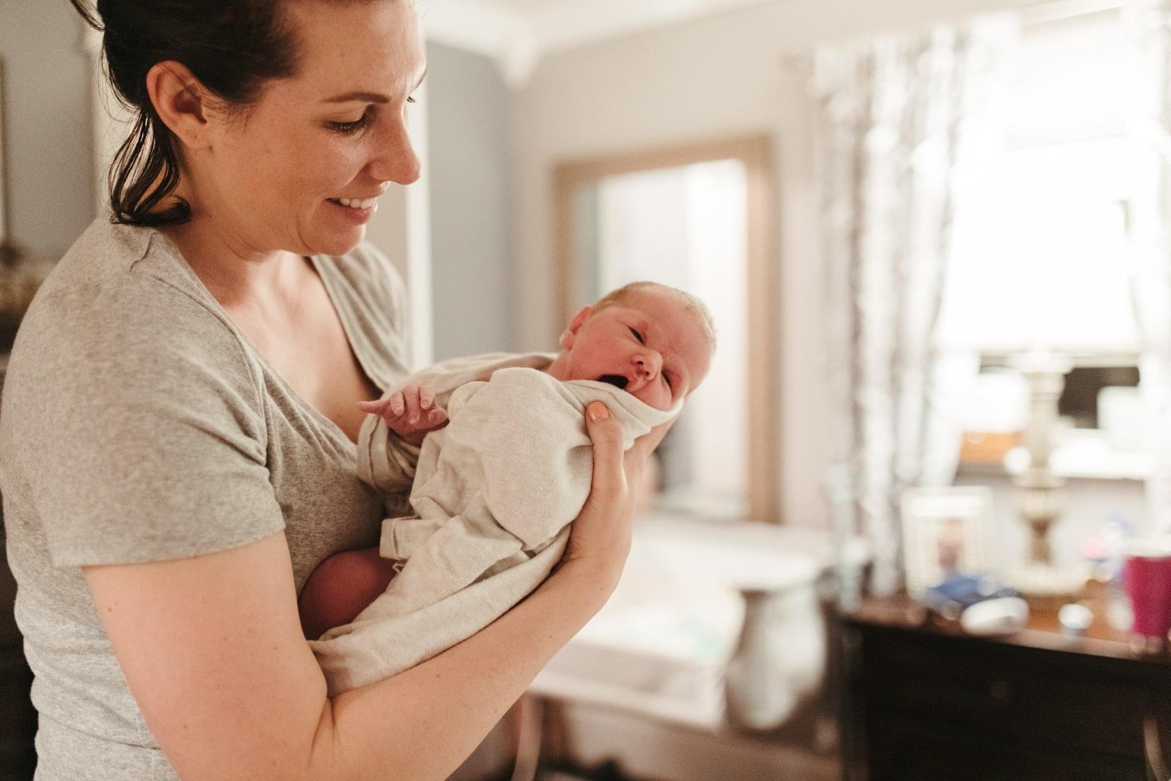heather holding baby